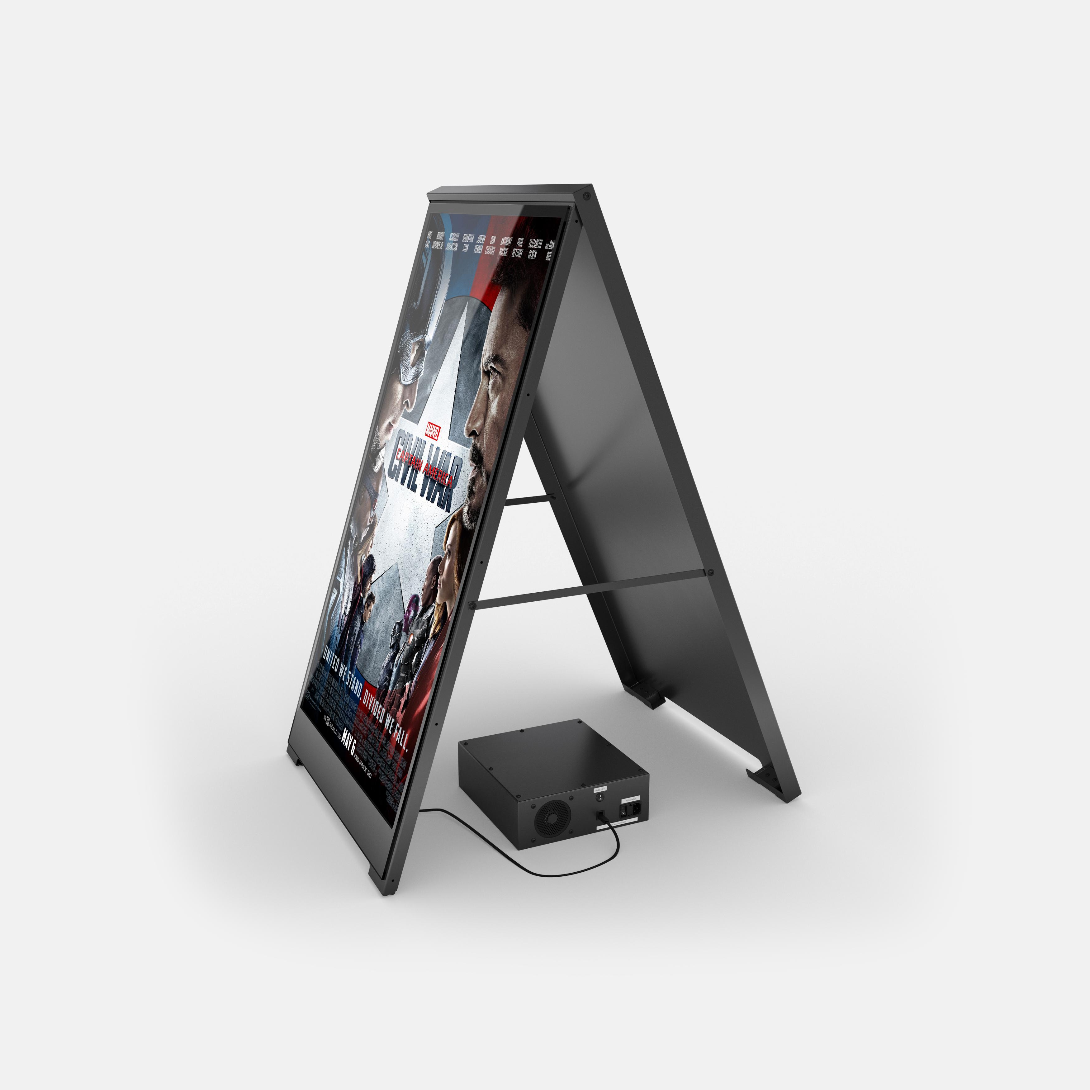 ZYGNAGE LCD Poster Kundenstopper mit Batterie