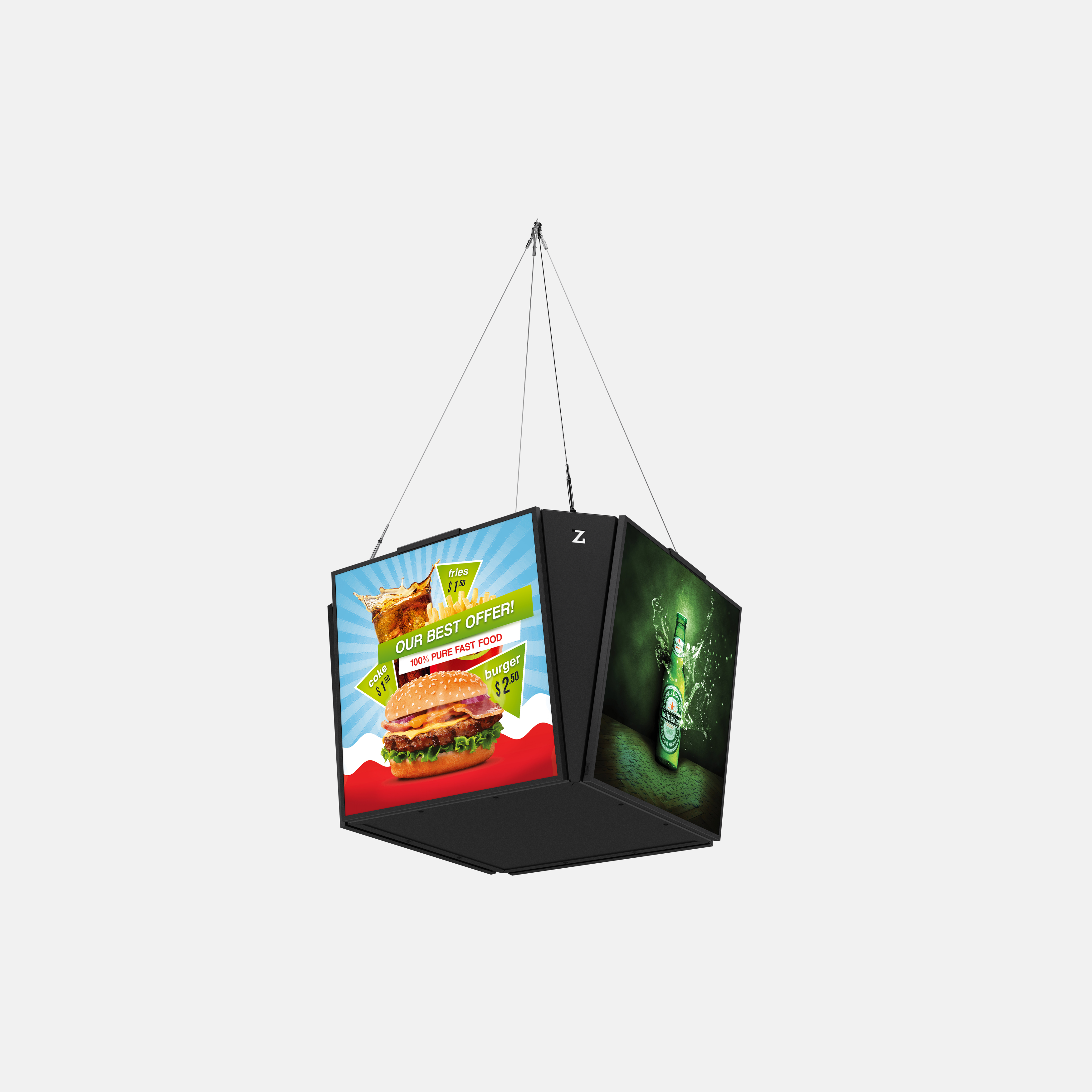 ZYGNAGE LCD Poster Cube