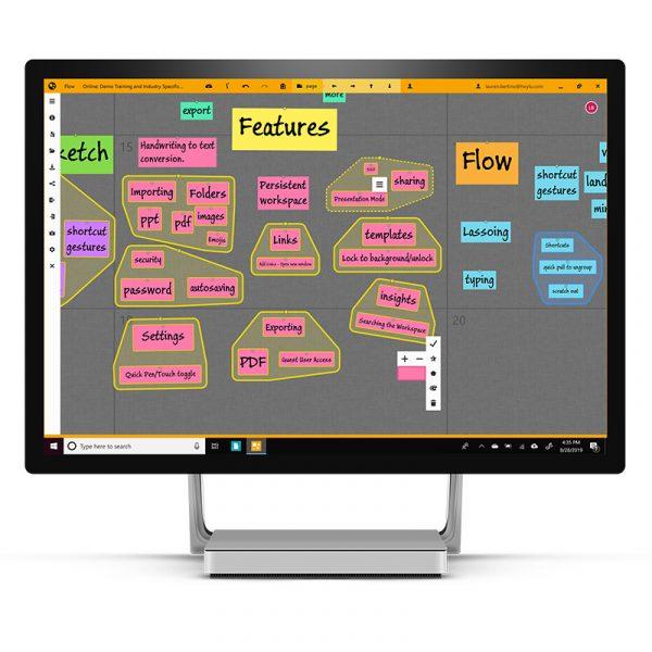 Mit der Hoylu-Collaboration Software in Echtzeit Ideen austauschen und mit Mitrabeitern vernetzen.
