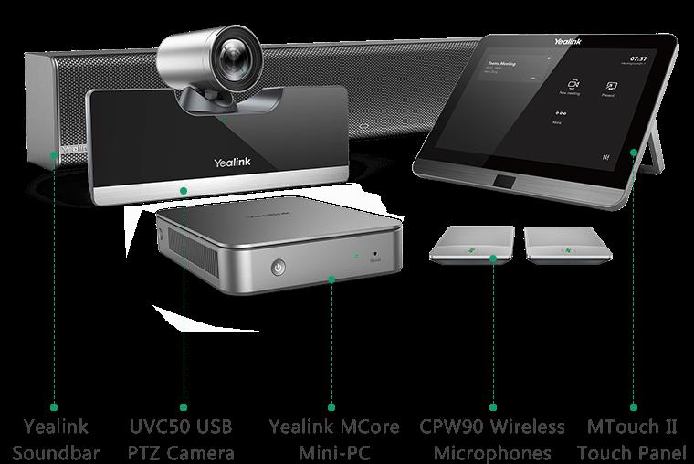 Die Yealink MVC II-Serie wurde speziell für Microsoft Teams entwickelt.
