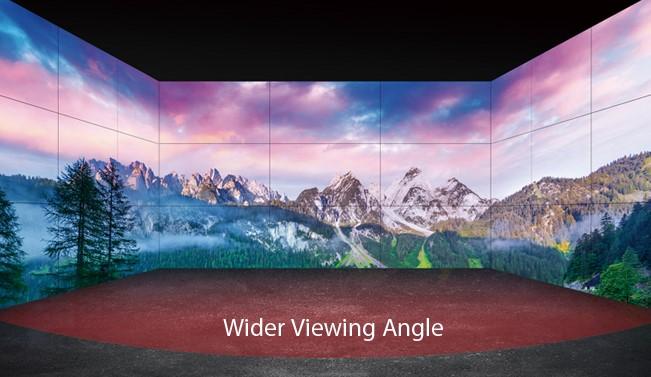 Die LG-Videowall der VM5E Serie hat eine hochmoderne intelligente Beschilderungsplattform und ist multitaskingfähig.