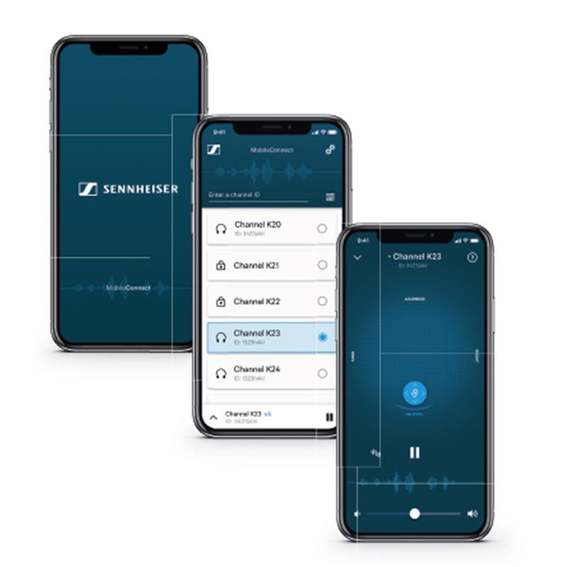 Sennheiser MobileConnect ist ein intuitiv zu bedienendes Assistive Listening System.