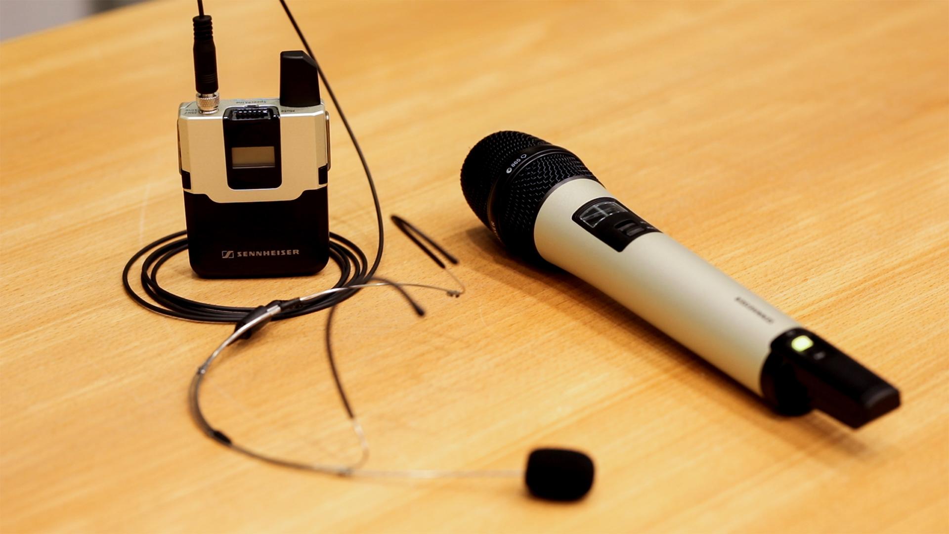 Sennheiser Mikrofone im Hörsaal in Max-Planck Institut für Biogeochemie in Jena