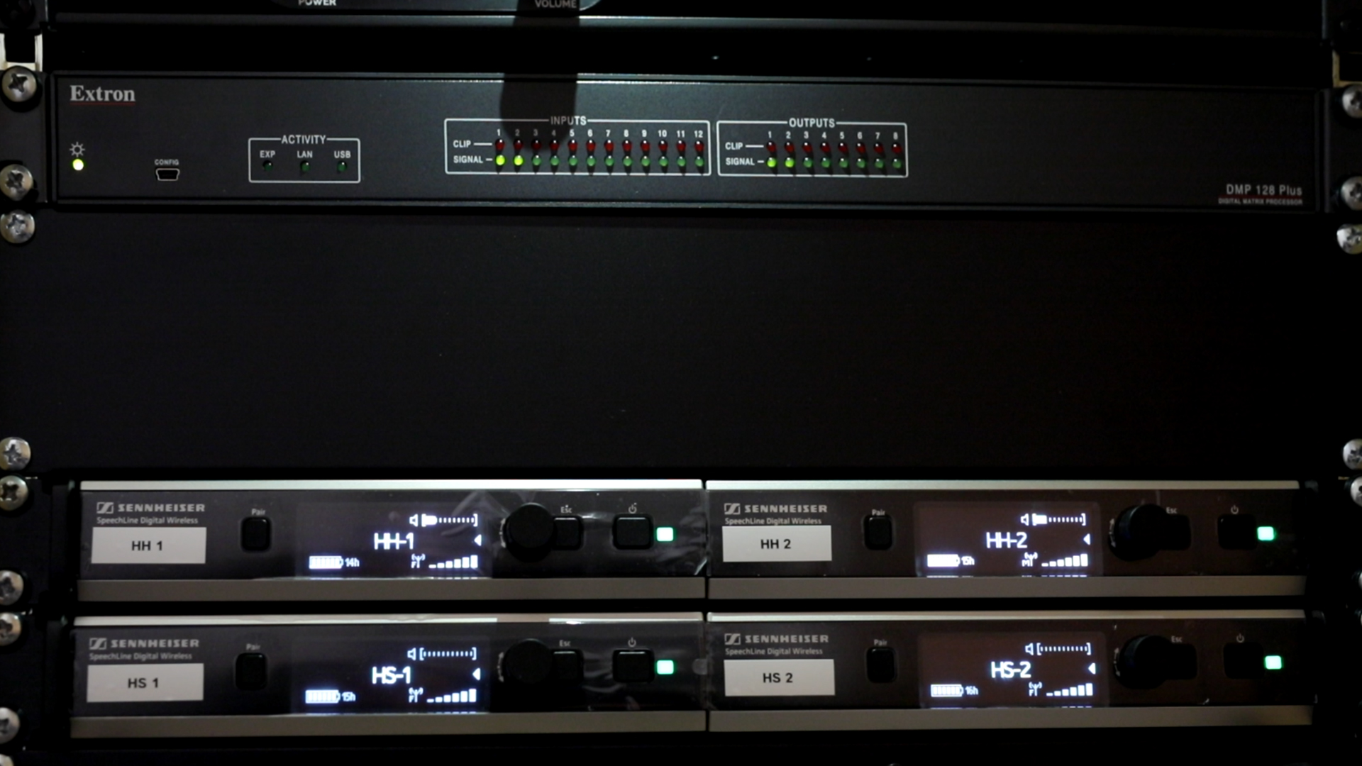 Soundssystem im Hörsaal in Max-Planck Institut für Biogeochemie in Jena
